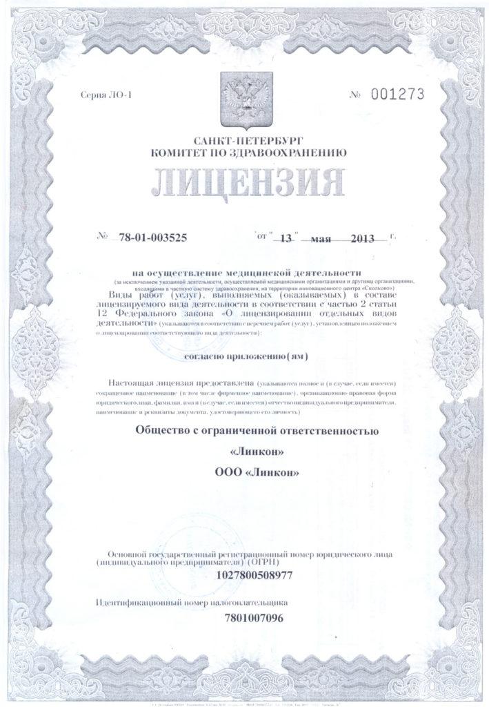 Основная лицензия 1