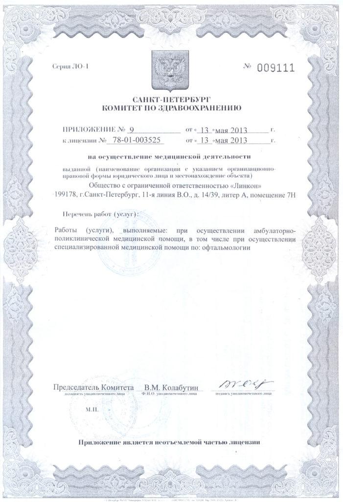 Лицензия – Васильевский Остров, 11 линия, д. 14/39